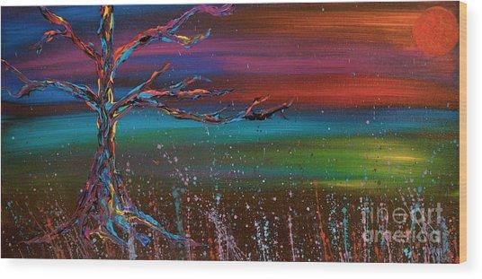 Twilight Sun Wood Print