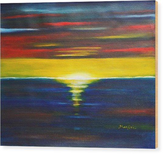Twilight Sunset Wood Print