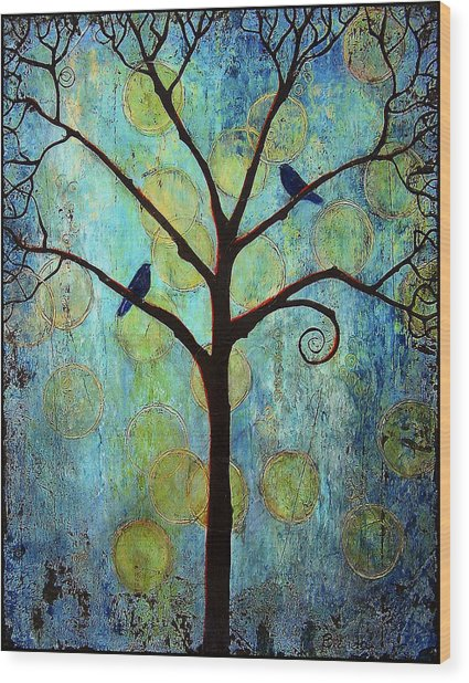 Twilight Tree Of Life Wood Print