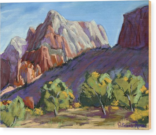 Twin Brothers Vista Wood Print by Patricia Rose Ford