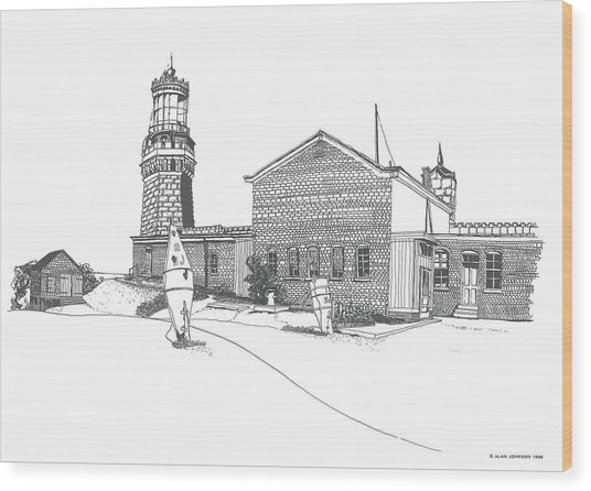 Twin Lights Atlantic Highlands Wood Print
