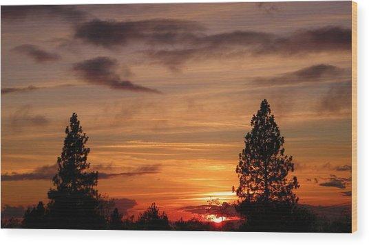 Twin Pines Wood Print