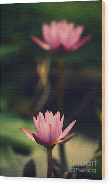 Twin Souls Wood Print by Vishakha Bhagat