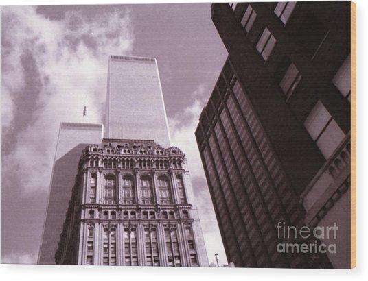 Twin Towers Wood Print