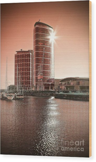 Twin Towers Wood Print by Paul Muscat