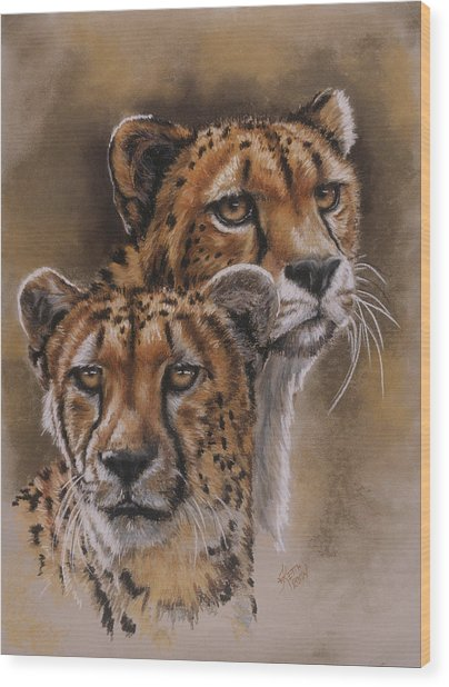 Wood Print featuring the pastel Twins by Barbara Keith