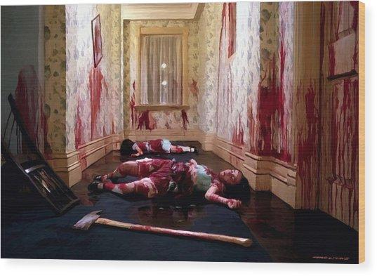Twins Murdered @ The Shining Wood Print