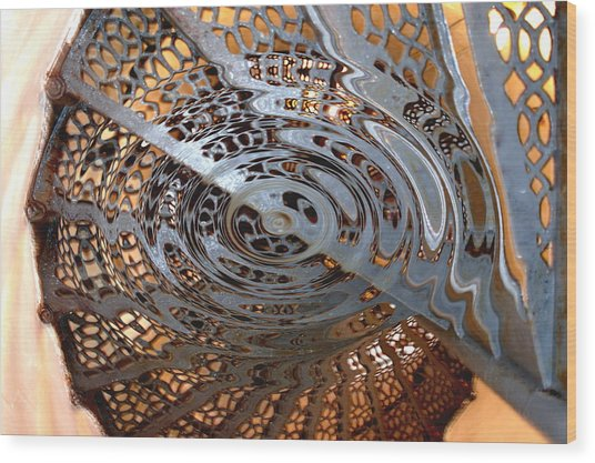 Twist Of Steel Wood Print