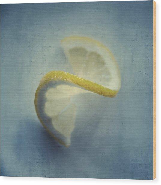 Twisted Lemon Wood Print