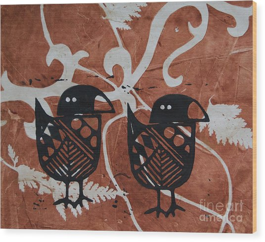 Two Beaks Wood Print