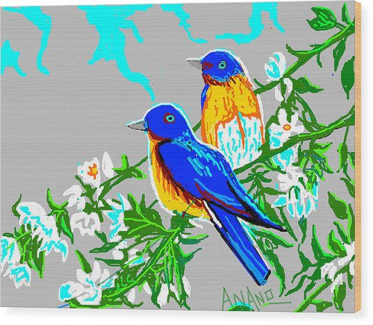 Two Birds Wood Print by Anand Swaroop Manchiraju