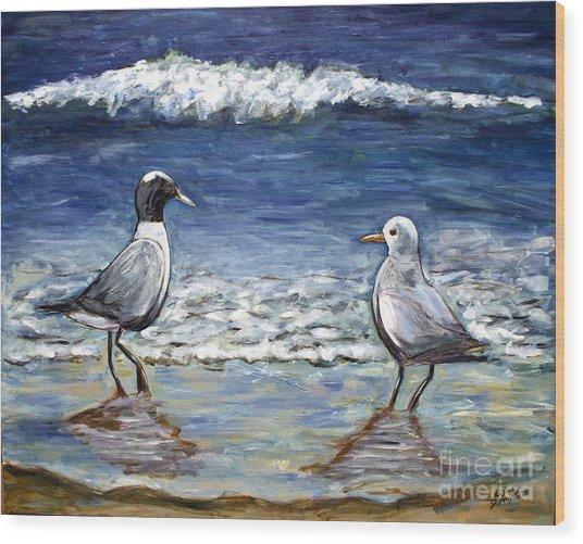 Two Birds With Foam Wood Print