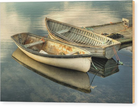 Two Boats At Peggys Cove Wood Print