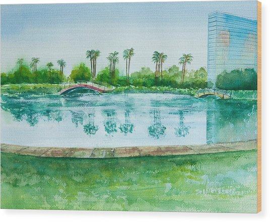Two Bridges At Rainbow Lagoon Wood Print