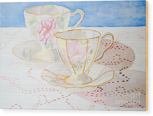 Two For Tea Wood Print