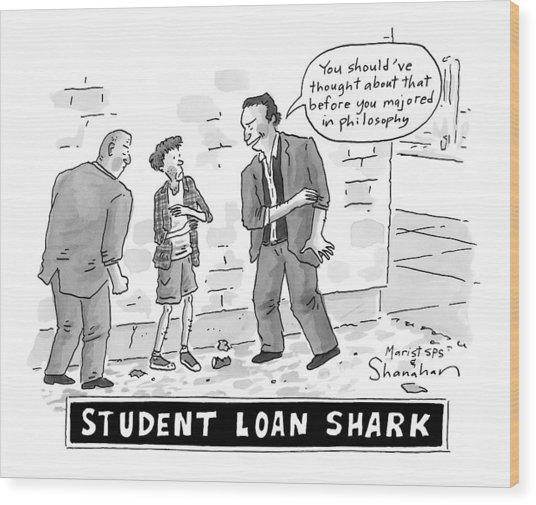 Two Henchman -- Student Loan Sharks -- Approach Wood Print