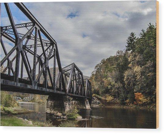 Two Iron Bridges Wood Print by Anthony Thomas