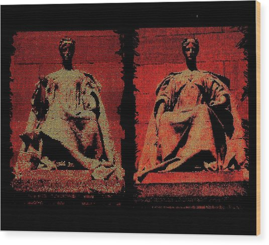 Two Justices Wood Print