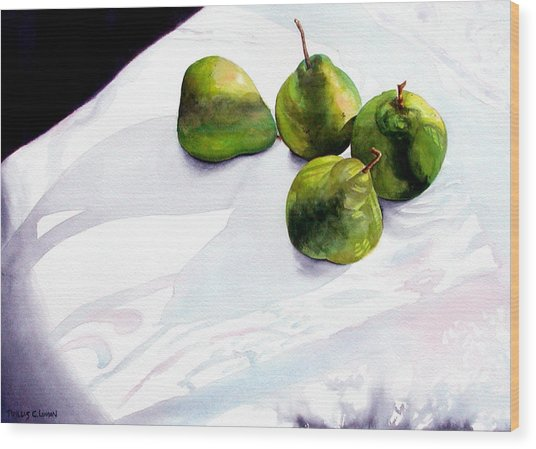 Two Pair Of Pears Wood Print