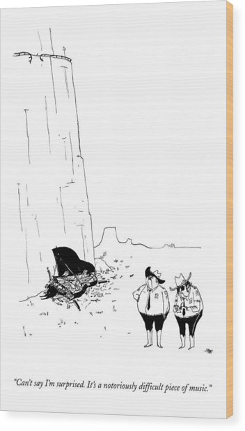 Two Police Officers Survey The Wreckage Wood Print