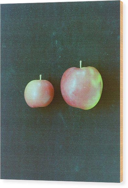 Two Red Apples Wood Print