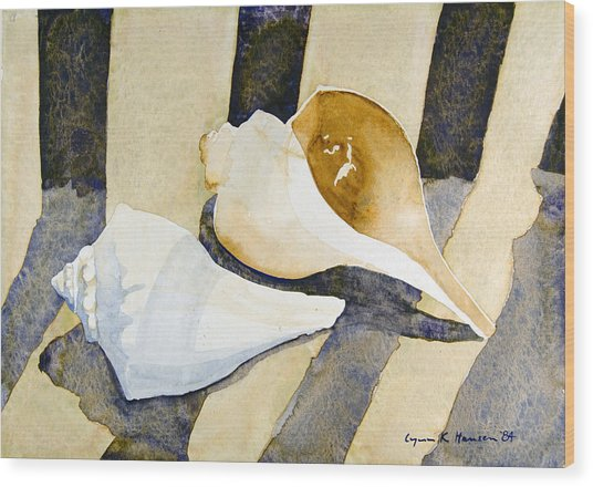 Two Shells Wood Print