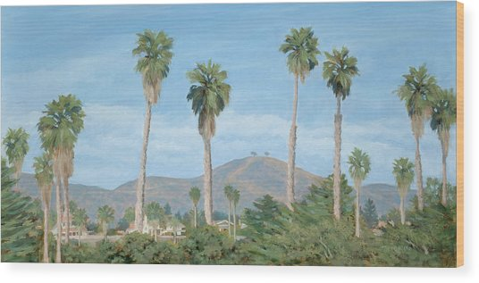 Two Tree's From Ventura State Park Wood Print by Tina Obrien