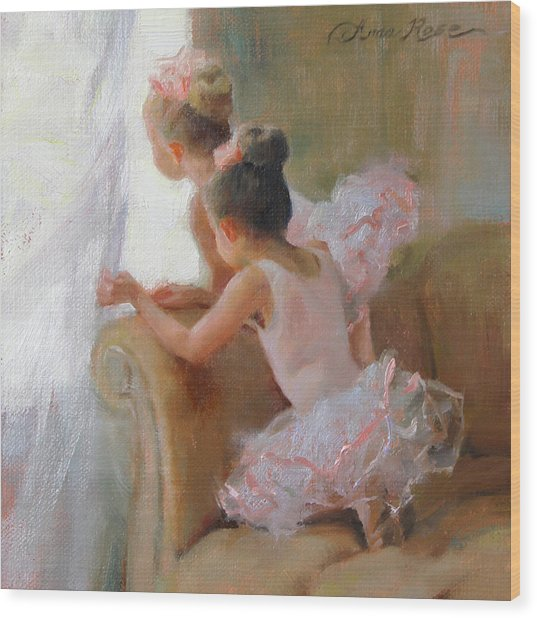 Two Tutus Wood Print by Anna Rose Bain