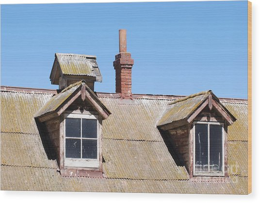 Two Window Roof Wood Print