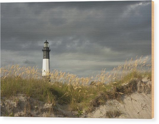Tybee First Light Wood Print
