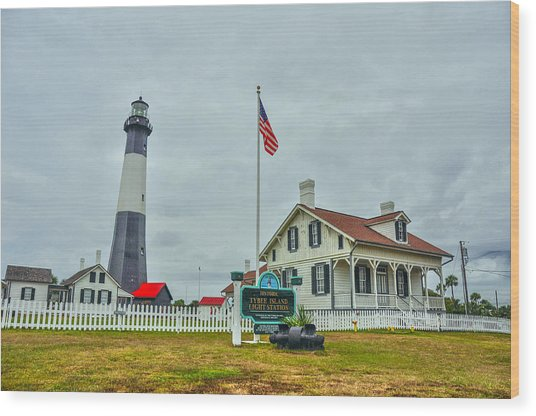 Tybee Island Lighthouse Wood Print by Donnie Smith
