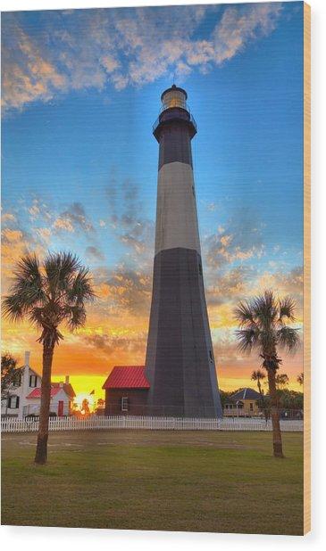 Tybee Island Sunrise Wood Print