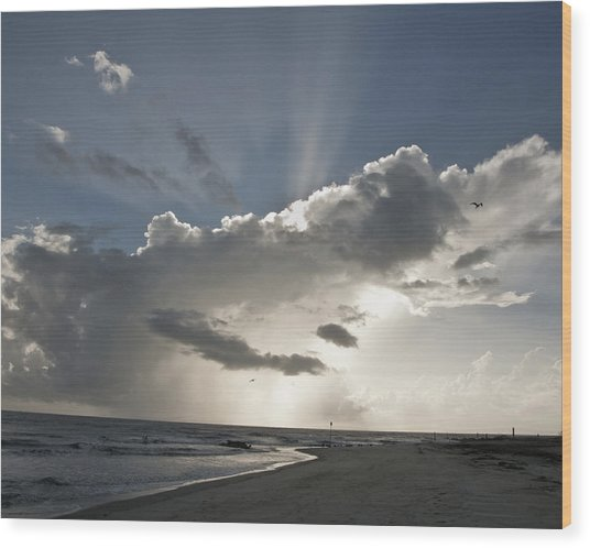 Tybee Sunrise Wood Print