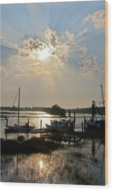 Tybee Sunset Wood Print