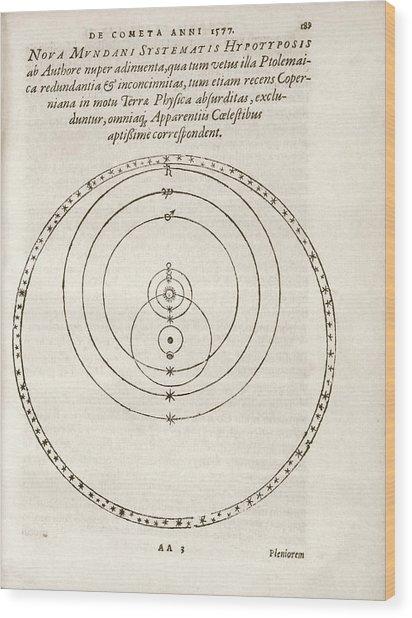 Tychonic World System Wood Print
