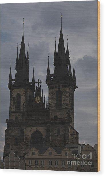 Tyn Curch Prague Wood Print