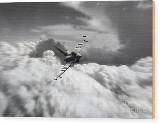 Typhoon Speed  Wood Print