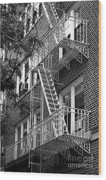 Typical Building Of Brooklyn Heights - Brooklyn - New York City Wood Print