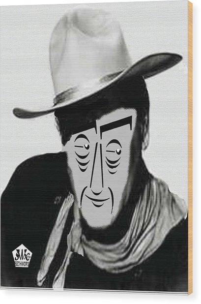 Typortraiture John Wayne Wood Print