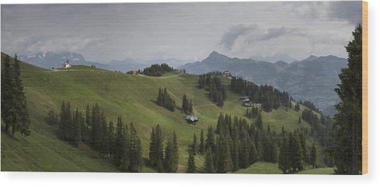 Tyrolean Panorama Wood Print by Nigel Jones