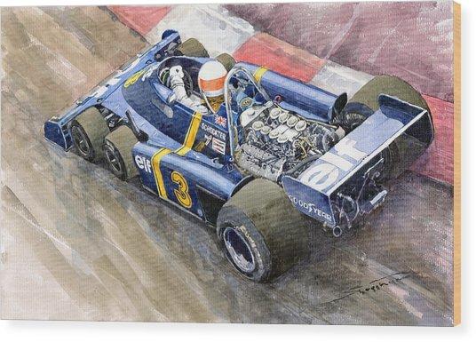 Tyrrell Ford Elf P34 F1 1976 Monaco Gp Jody Scheckter Wood Print