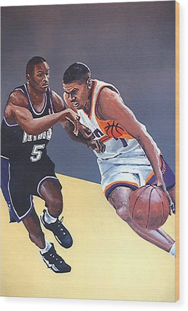 Tyus Edney And Kevin Johnson Wood Print by Paul Guyer