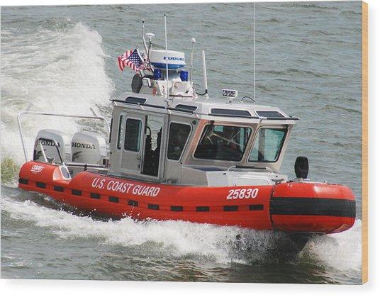 U. S. Coast Guard - Speed Wood Print