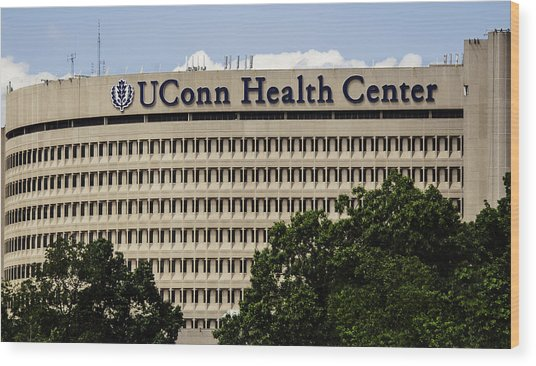 University Of Connecticut Uconn Health Center Wood Print