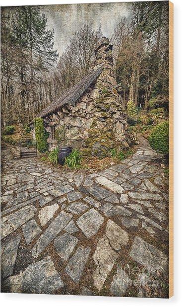 Ugly Cottage Wood Print