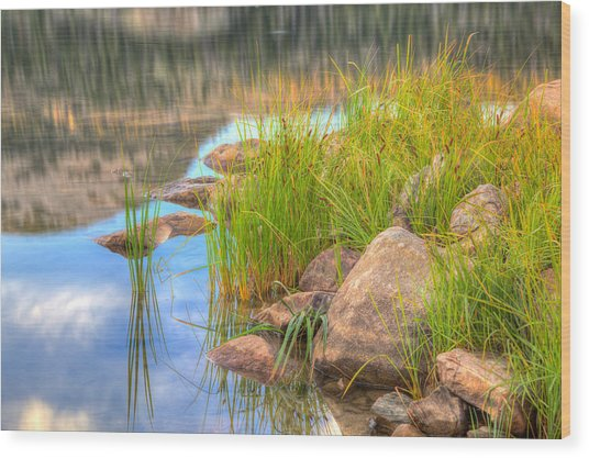 Uinta Reflections Wood Print