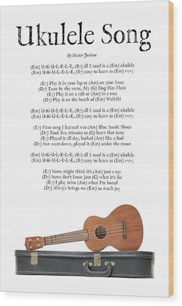 Ukulele Song Wood Print