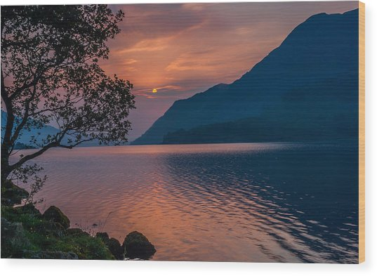 Ullswater Sunrise Lake District Wood Print by David Ross