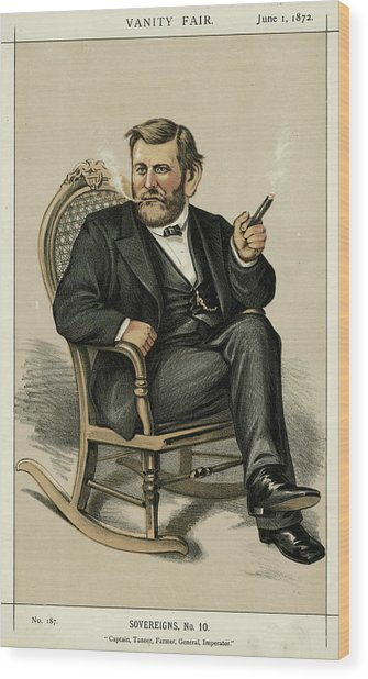 Ulysses Grant American Civil War Wood Print by Mary Evans Picture Library