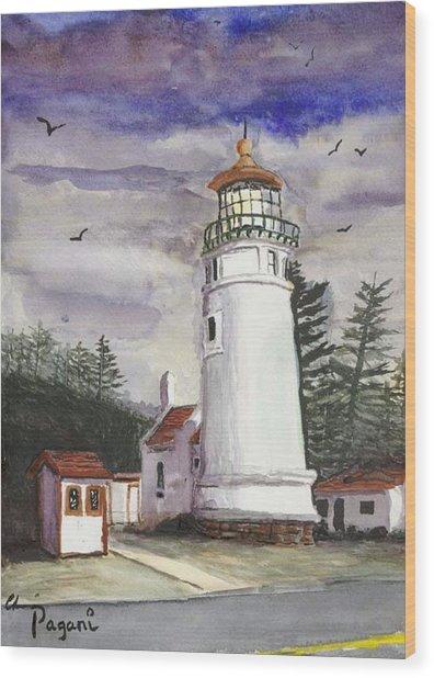 Umpqua Lighthouse Wood Print